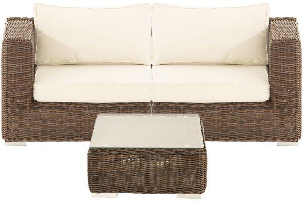 M# Ariano Sofa mit Tisch Braun-Meliert