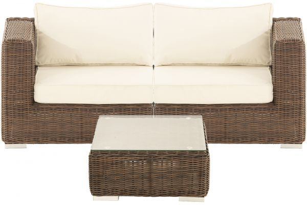 M# Ariano Sofa mit Tisch Braun-Meliert-braun-meliert-cremeweiß