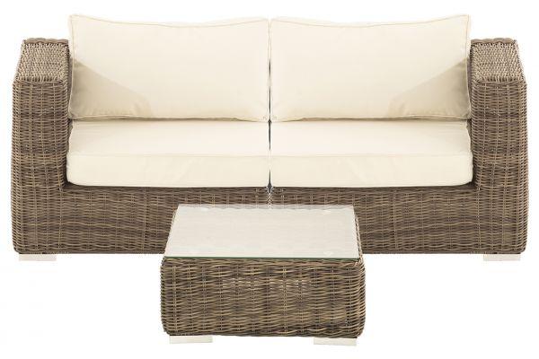 M# Ariano Sofa mit Tisch Grau-Meliert