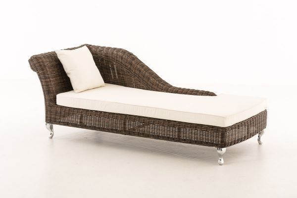 G# Chaiselongue Savannah 5mm braun-meliert / creme
