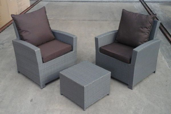 2x Fisolo Sessel + Tahiti Hocker