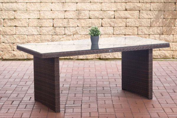 Tisch Avignon 180 cm braun-meliert-braun-meliert