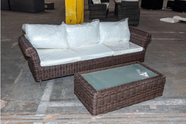#HBM 2064: 3er Sofa Vivari mit Tisch Madeira 5mm