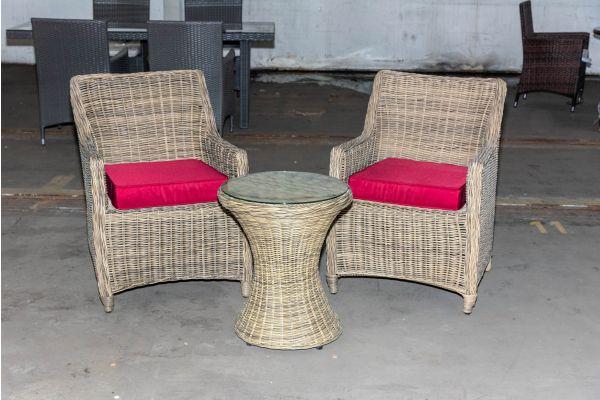#HBM 2096: 2x Stuhl Sandnes mit Tisch Sandino 5mm natura