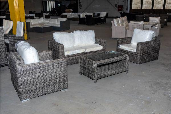 #HBM 2074: Sitzgruppe 2-1-1 Madeira mit Tisch San Fernando 5mm