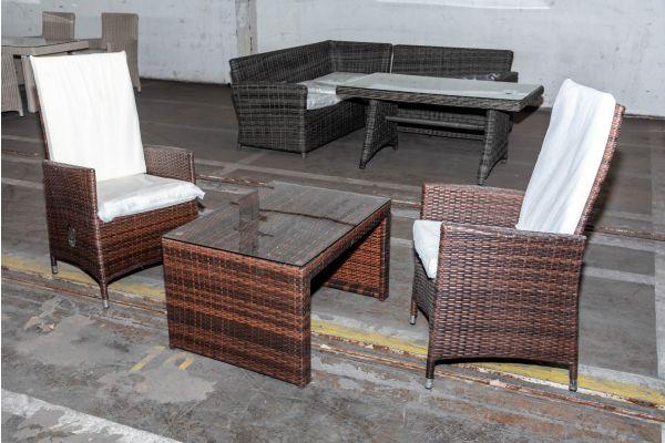 #HBM 2040: 2er Set Stuhl Sevilla mit Kaffeetisch Casablanca
