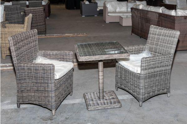 #HBM 2018: 2er Set Stuhl Fontana mit Tisch Palermo 5mm