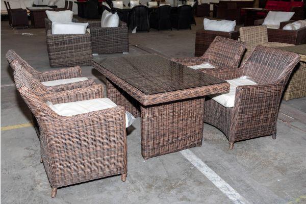 #HBM 2013: 4er Set Sessel Sandnes mit Tisch La Gomera 140 5mm