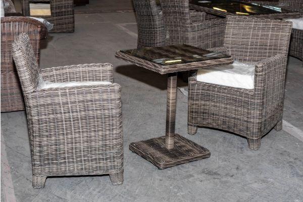 #HBM 2017: 2er Set Stuhl Fontana mit Tisch Palermo 5mm-grau-meliert