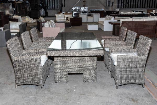 #HBM 2011: 6er Set Stuhl Fontana mit Tisch Sandnes 5mm