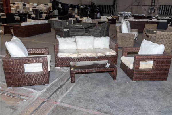 #HBM 1976: 2er Set Sessel Honolulu mit 3er Sofa und Tisch Malolo