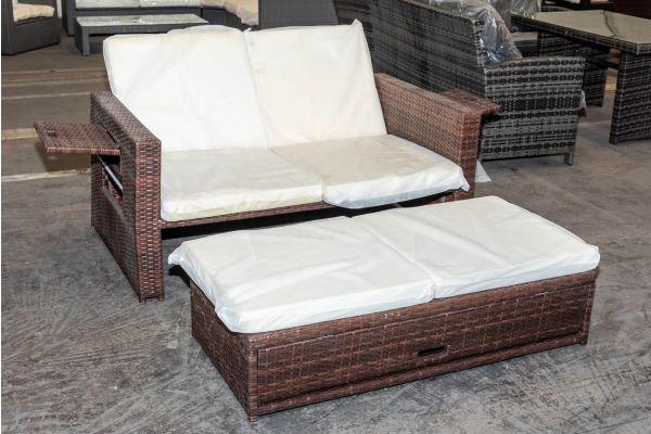 #HBM 1996: Sofa Ancona-braun-meliert