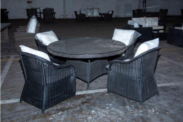 #HBM 2218: 4x Stuhl mit Tisch Stavanger XL 5mm schwarz