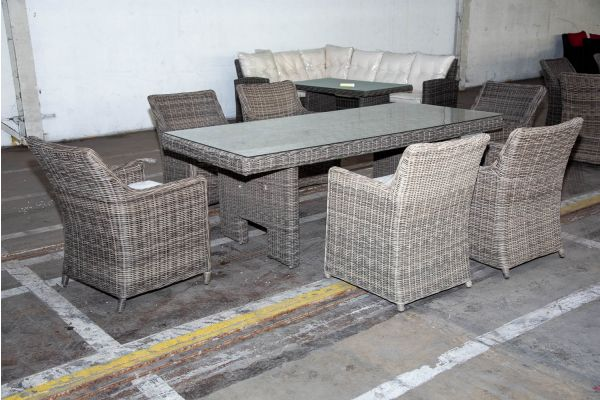#HBM 2229: Sitzgruppe Sandnes 5mm graumeliert-grau-meliert