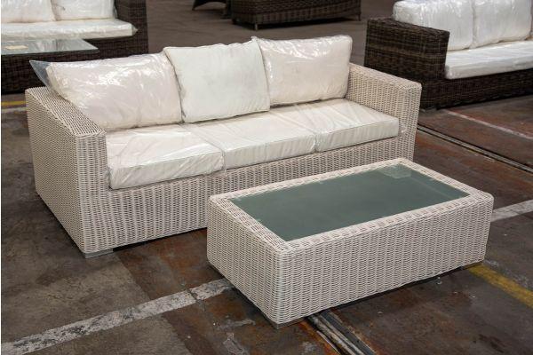#HBM 2207: 3er Sofa mit Tisch Madeira 5mm