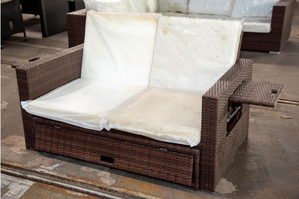 #HBM 2190: Sofa Ancona-braun-meliert