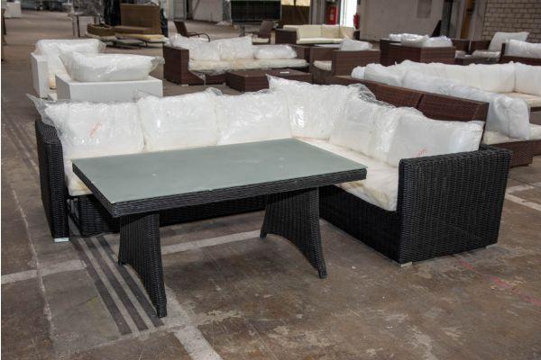 #HBM 2255: Sitzgruppe Siena ohne Hocker 5mm-schwarz