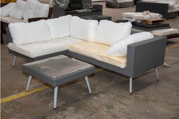 #HBM 2319: Eckgarnitur bestehend aus 2 Seitenelementen Molde mit Tisch