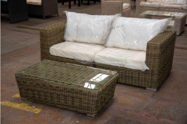 #HBM 2317: 2er Sofa bestehend aus 2 Seitenelementen Ariano mit Tisch Mandal 5mm