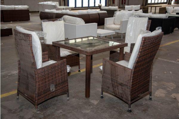 #HBM 2264: 4er Set Stuhl Sevilla mit Tisch Rio