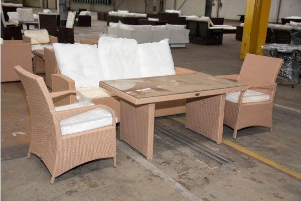 #HBM 2269: Sitzgruppe bestehend aus 3er Sofa und Tisch Fisolo mit 2er Set Sessel Pizzo
