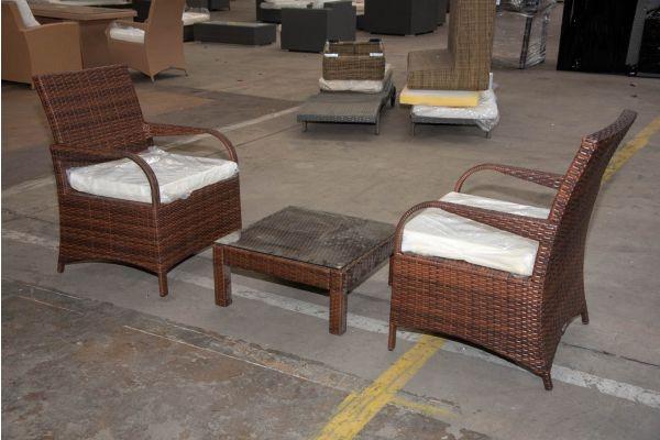 #HBM 2267: 2er Set Stuhl Pizzo mit Tisch Fiji