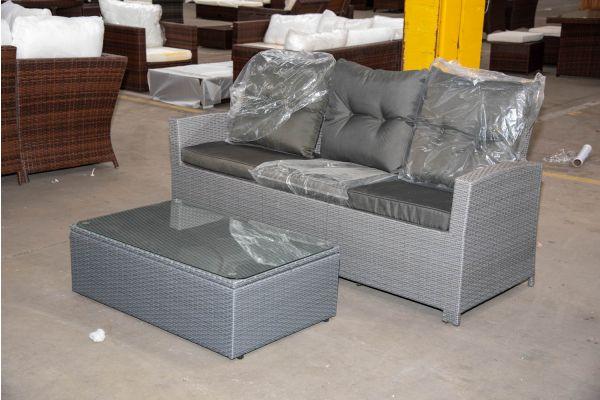 #HBM 2272: 3er Sofa Fisolo mit Tisch Tibera
