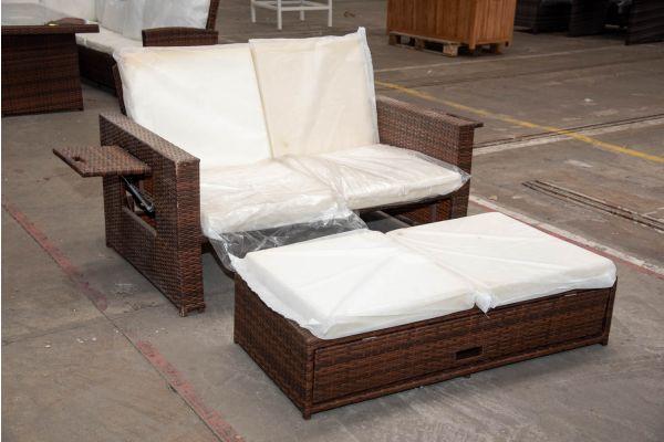 #HBM 2306: Sofa Ancona-braun-meliert