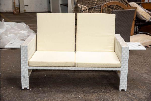 #HBM 2299: Sofa Ancona ohne Hocker-weiß-cremeweiß