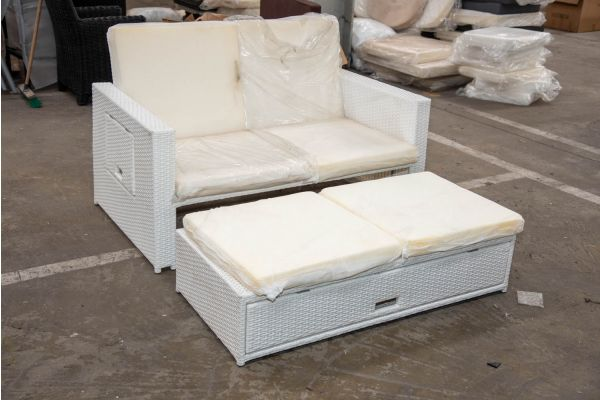#HBM 2295: Sofa Ancona-weiß