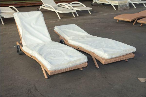 #HBM 2458: 2er Set Sonnenliege Elba-sand