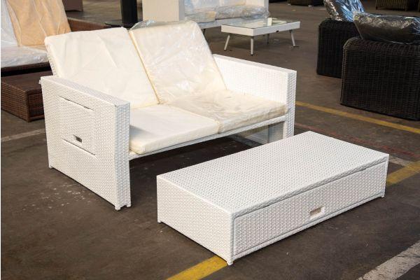 #HBM 2441: Sofa Ancona-weiß