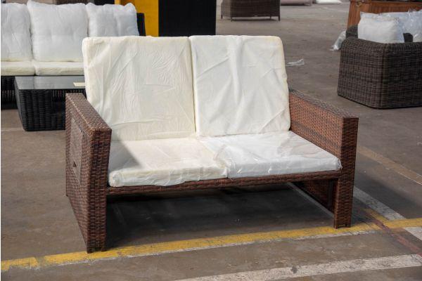 #HBM 2426: Sofa Ancona ohne Hocker-braun-meliert