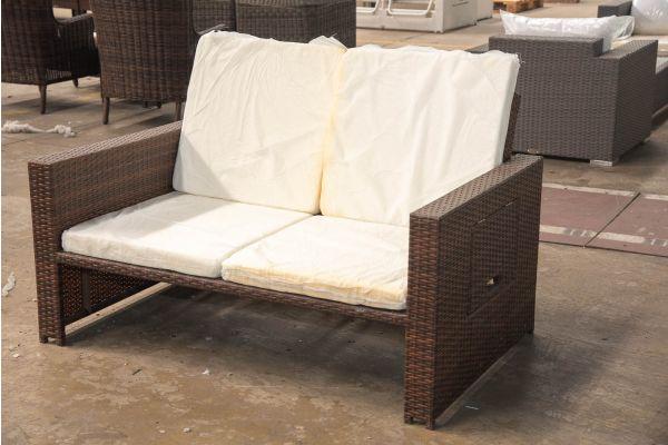 #HBM 2424: Sofa Ancona ohne Hocker-braun-meliert