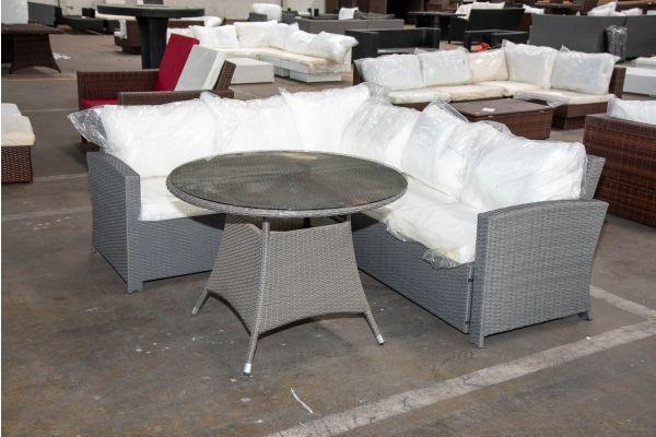 #HBM 2553: Eckgarnitur Sierra mit Tisch Sanremo-grau