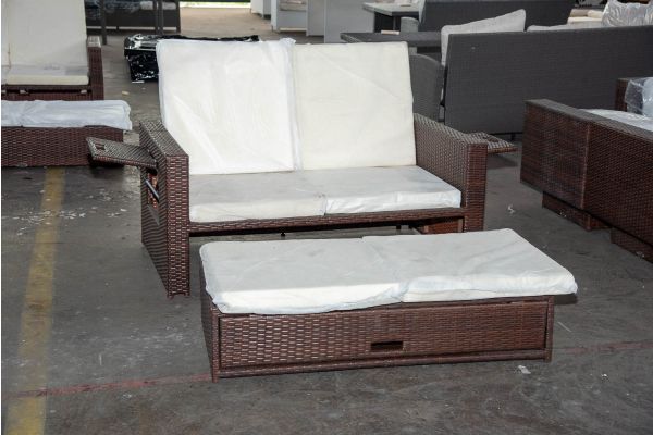 #HBM 2563: Sofa Ancona-braun-meliert