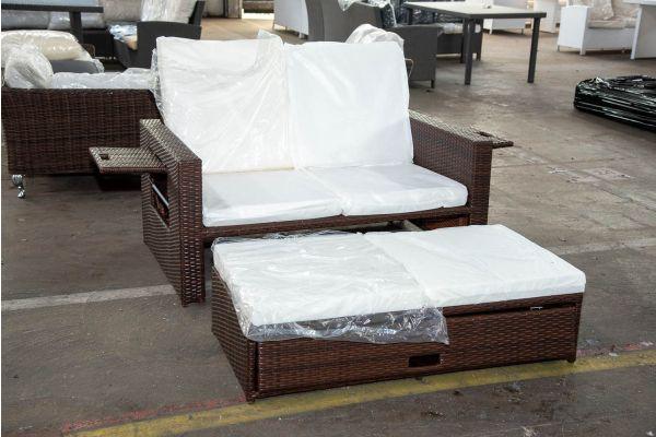 #Ancona 1: Sofa Anconca-braun-meliert