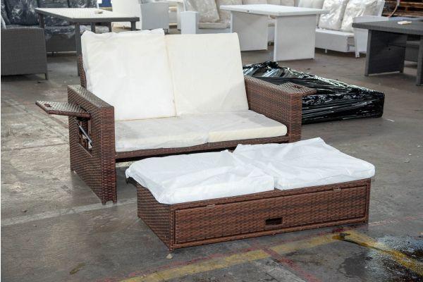 #HBM 2581: Sofa Ancona-braun-meliert