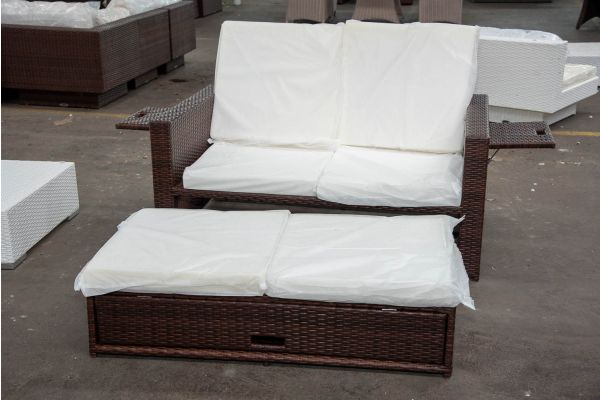 #HBM 2592: Sofa Ancona-braun-meliert