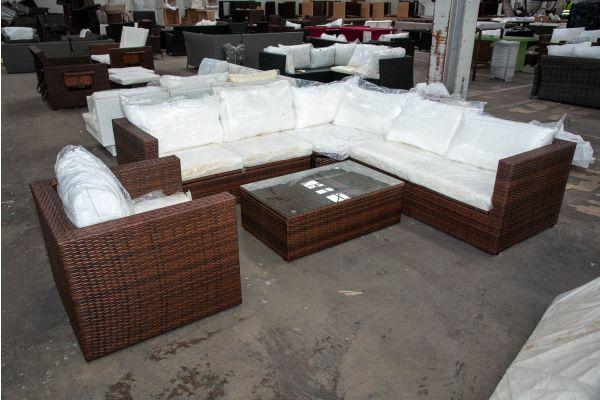 #HBM 2595: Garnitur Tibera-braun-meliert