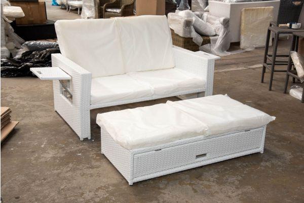#HBM 2600: Sofa Ancona-weiß