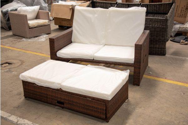 #HBM 2605: Sofa Ancona-braun-meliert
