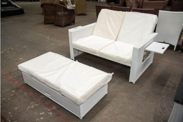 #HBM 2620: Sofa Ancona-weiß