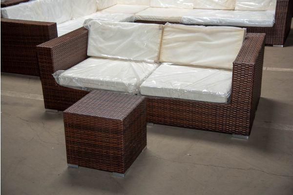 #BARC 6: 2er Sofa bestehend aus 2 Eckelementen Barcelona-braun-meliert