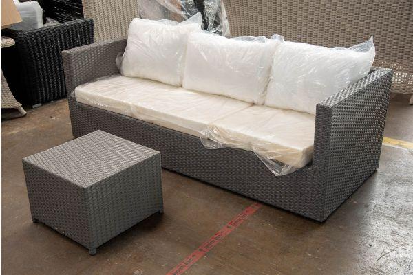 #HBM 2651: 3er Sofa Genero mit Hocker Maui-grau