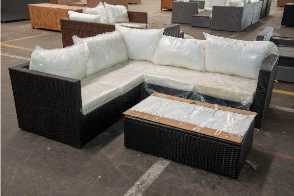 #HBM 2664: Garnitur Genero mit Tisch Tibera-schwarz