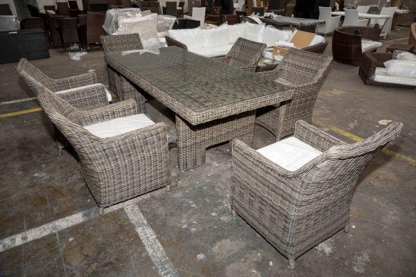 #HBM 2741: Sitzgruppe Sandnes 5mm-grau-meliert
