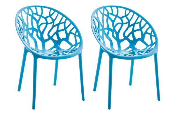 2er Set Stuhl Hope blau