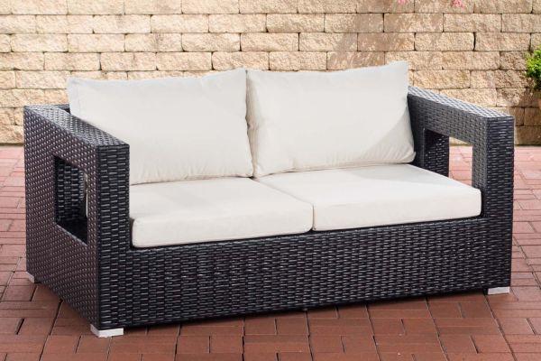 2er Sofa Honolulu Flachrattan schwarz