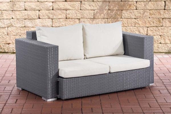 2er Sofa Provence / Sunset Cremeweiß grau